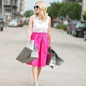 PARTYSKIRTS BY SKOT Hot Pink Midi Skirt